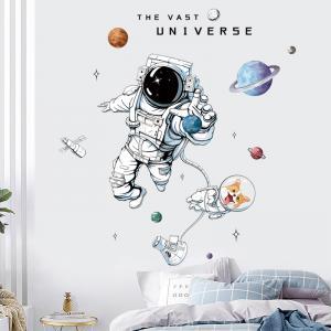 Astronot Ve Köpeği Bebek & Çocuk Odası Duvar Sticker Çıkartma Seti
