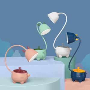 Özel Tasarım Pet Şarjlı Gece Masa Lambası Dokunmatik 3 Farklı Led Işıklı