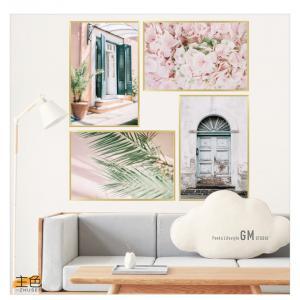 Çerceveli Çiçekli Manzara Ev Dekor Duvar Sticker Çıkartma Seti
