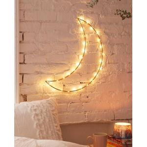 Dekoratif Led Işıklı Duvar Tel Ay Gece Lambası