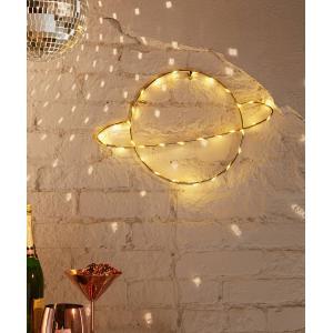 Dekoratif Led Işıklı Duvar Tel Satürn Gece Lambası