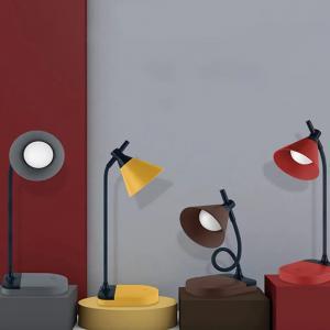 Özel Tasarım Koni Şarjlı Gece Masa Lambası Dokunmatik 3 Farklı Led Işıklı