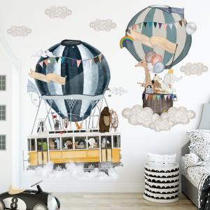 Otobüs Araba Balon Bebek & Çocuk Odası Duvar Sticker Çıkartma Seti