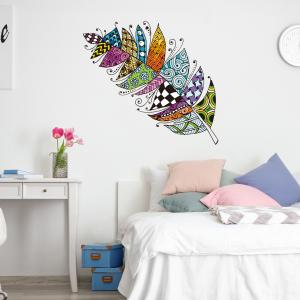 Rengarenk Tüy Bebek & Çocuk Odası Duvar Sticker Çıkartma Seti