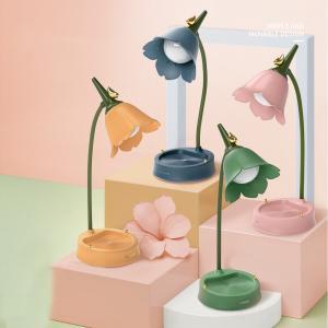 Özel Tasarım Çiçek Şarjlı Gece Masa Lambası Dokunmatik 3 Farklı Led Işıklı