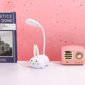 Akrobatik Şarjlı Tavşan Masa Lambası Beyaz Renk
