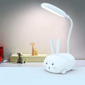 Akrobatik Şarjlı Tavşan Masa Lambası Mavi Renk