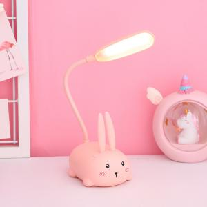 Akrobatik Şarjlı Tavşan Masa Lambası Pembe Renk