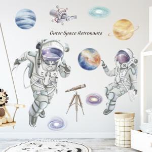 Uzayda Gezen Astronotlar Bebek & Çocuk Odası Duvar Sticker Çıkartma Seti